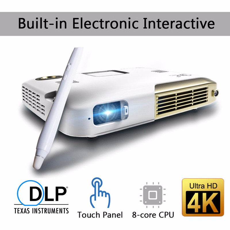 15000mah Battery Mini Portable Projector DLP Wifi Android Bluetooth 1080P Full HD Proyector 1.2G+8G With Electronic interaction