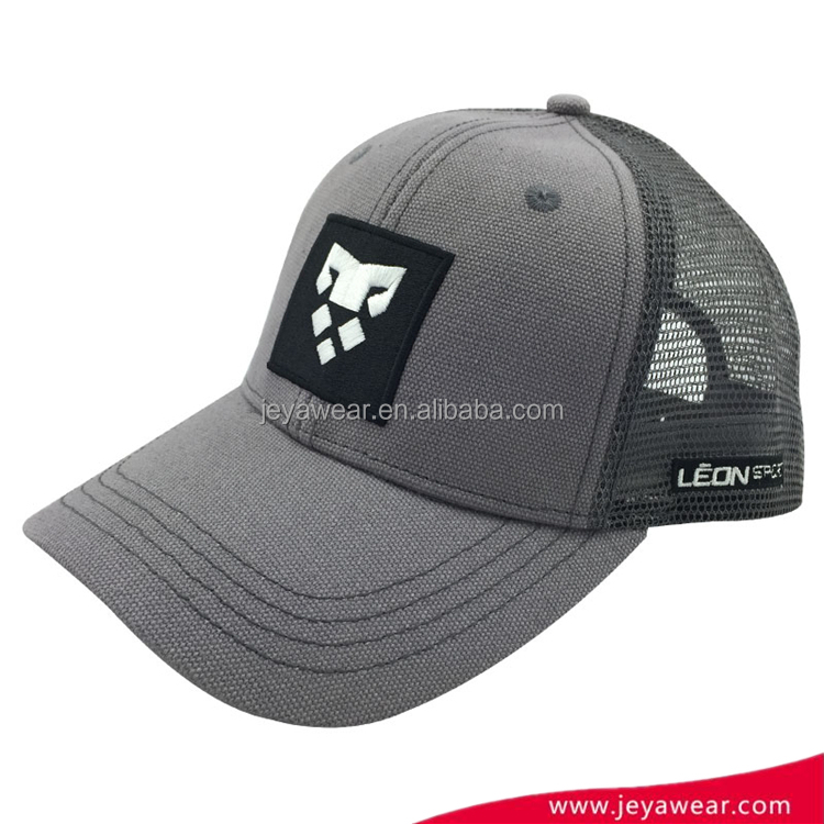 Wholesale Baseball Cap Gray Mesh Trucker Baseball Caps Snapback Hats
