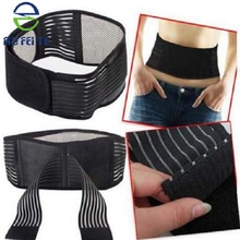 Top selling products 2018 Men Women Double Pull Self-heating Back Support Lumbar Brace,Magneti Waist Belt Support Brace