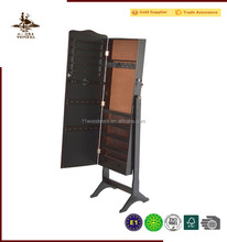 2016 hot seller popular high quality wooden mirror jewelry cabinet