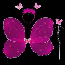 Hot sale!!! Best selling colorful butterfly cute toyes wings fashion kids wings