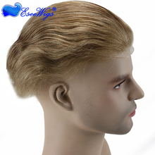 Free shipping high quality human hair man toupee 21# color in stock