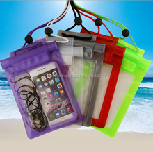 PVC Waterproof Bag for Cell Phone Swimming Plastic Mobile Phone Waterproof Case, Phone Accessories