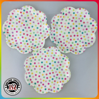 Custom Flower Shape Paper Plate Wholesale