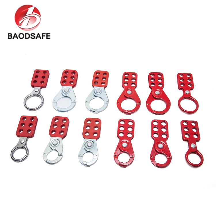 "BAODI China Popular 1.5"" 6 Holes Red Colour Electrical Safety Lockout Hasp / Tagout"