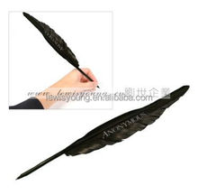 Promotional gift opp bag packing/ goose feather pen