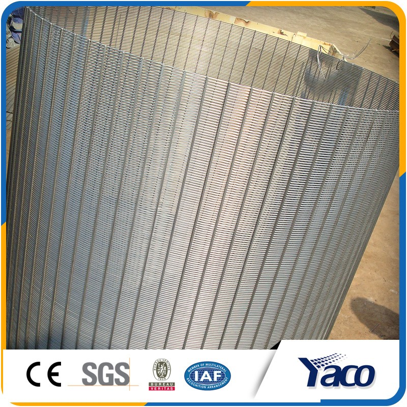 Heat and corrosion wedge wire screen for waste water treatment