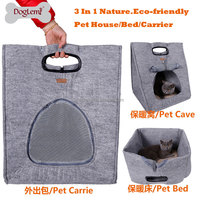 Multifunction 3 IN 1 Nature Puppy Bed Cat House Kennel stylish Cat carrier 2 colors