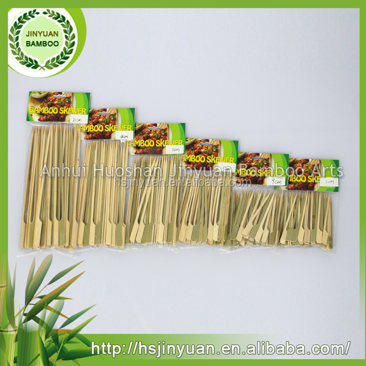 natural bamboo made food grade gun shape skewers for fruit or fruit wine in party