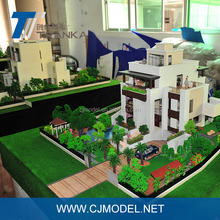 Architectural model making , commercial building model with water and led material