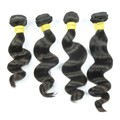 Unprocessed cheap soft natural hair virgin Brazilian loose wave 3 bundles