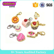 100 pieces/lot Resin Cat Cookie Charm Bread Cake Doughnut Artificial Fake Food Cake Charms Pendants
