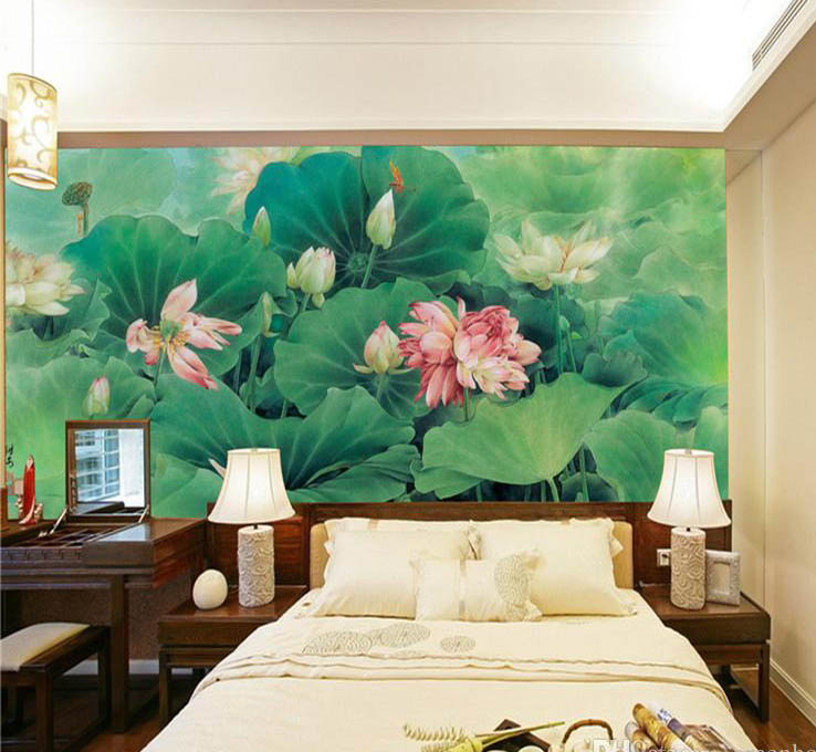 Factory price custom waterproof durable romantic hotel wallpaper