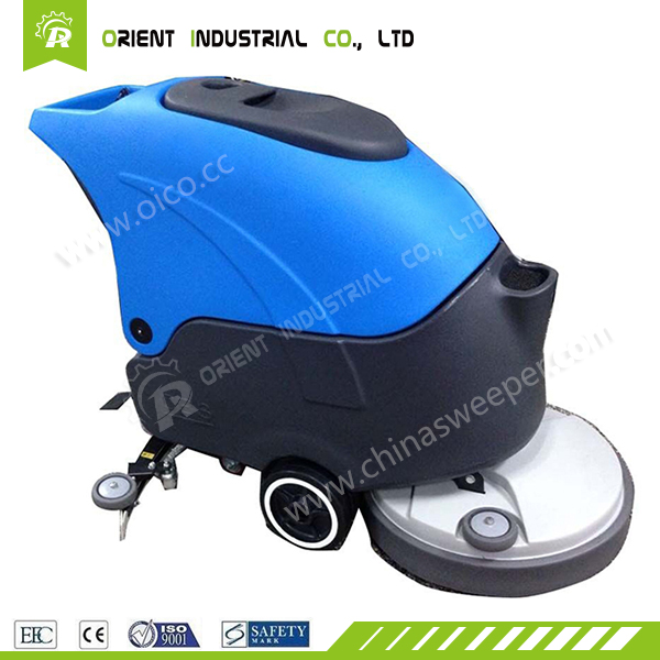 V5 sweeping washing machine hand held street cleaning machine automatic battery power walk behind floor scrubber