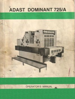 Book Of User Operator Adast Dominant 725a