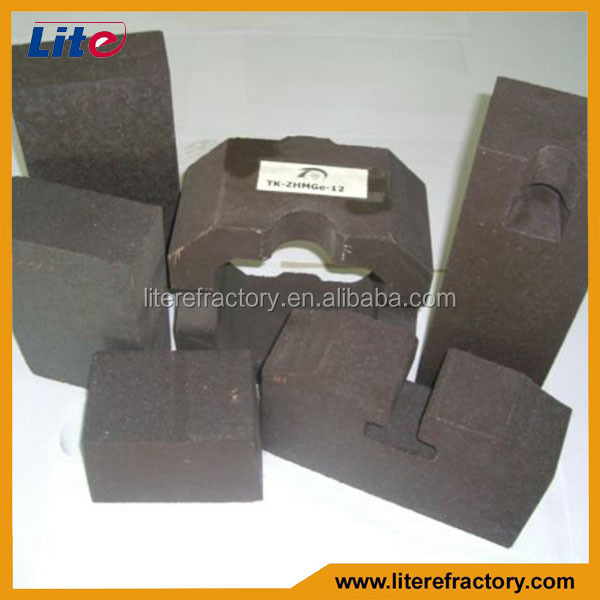 Electric Fused Rebonded Magnesia Chrome Refractory Brick for AOD,VOD,RH Furnace