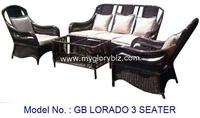 Special Stylish Design 3 Seater Sofa Manufacture With Rattan Suitable For Living Room Indoor Set Furniture