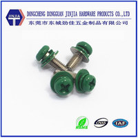 M3x8 combined painted head decorative machine screws with washer