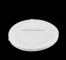 hottest sellign 8 inch 9inch 7inch disposable white round paper plate for party wedding
