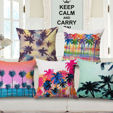 Chinese latest style 100% cotton wholesale rattan sofa digital printed fancy cushion covers