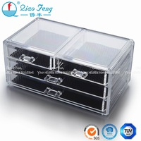 Best selling wholesale acrylic cosmetic makeup organizer with 4 drawers