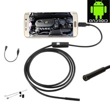 Hot! 6 LED 7 MM Android Borescope Camera 1 M Kabel Endoscoop Inspectie Snake Tube Camera