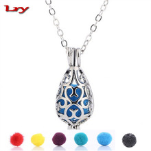 2017 Water droplet aromatherapy balls Necklace, Women Lava Stone Necklace