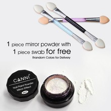 #61603J CANNI Nail Art Professional Makeup Brush Metal Polish Color Manicure Makeup Mirror Chrome Effect Pigment Powder