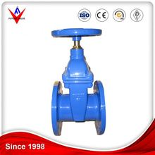 Ductile Iron Bs5163 Soft Seal Non Rising Stem Resilient Seated Gate Valve