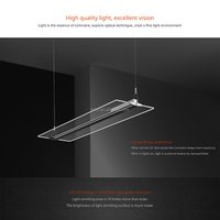 Transparent Led 54W LED Office Ceiling Light Fixture Suspended Mounted Totally Clear LGP Panel light