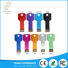Import China Cheap 4Gb/8Gb/16Gb/32Gb/64Gb Colorful Customized Logo Gold Key Shape Memory Usb Stick Flash Drives Chip Pen Drive