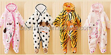 hot sale winter baby jumpsuit cheap Onesie Cute Baby Zip Up Playsuit Jumpsuit animal cotton Costume