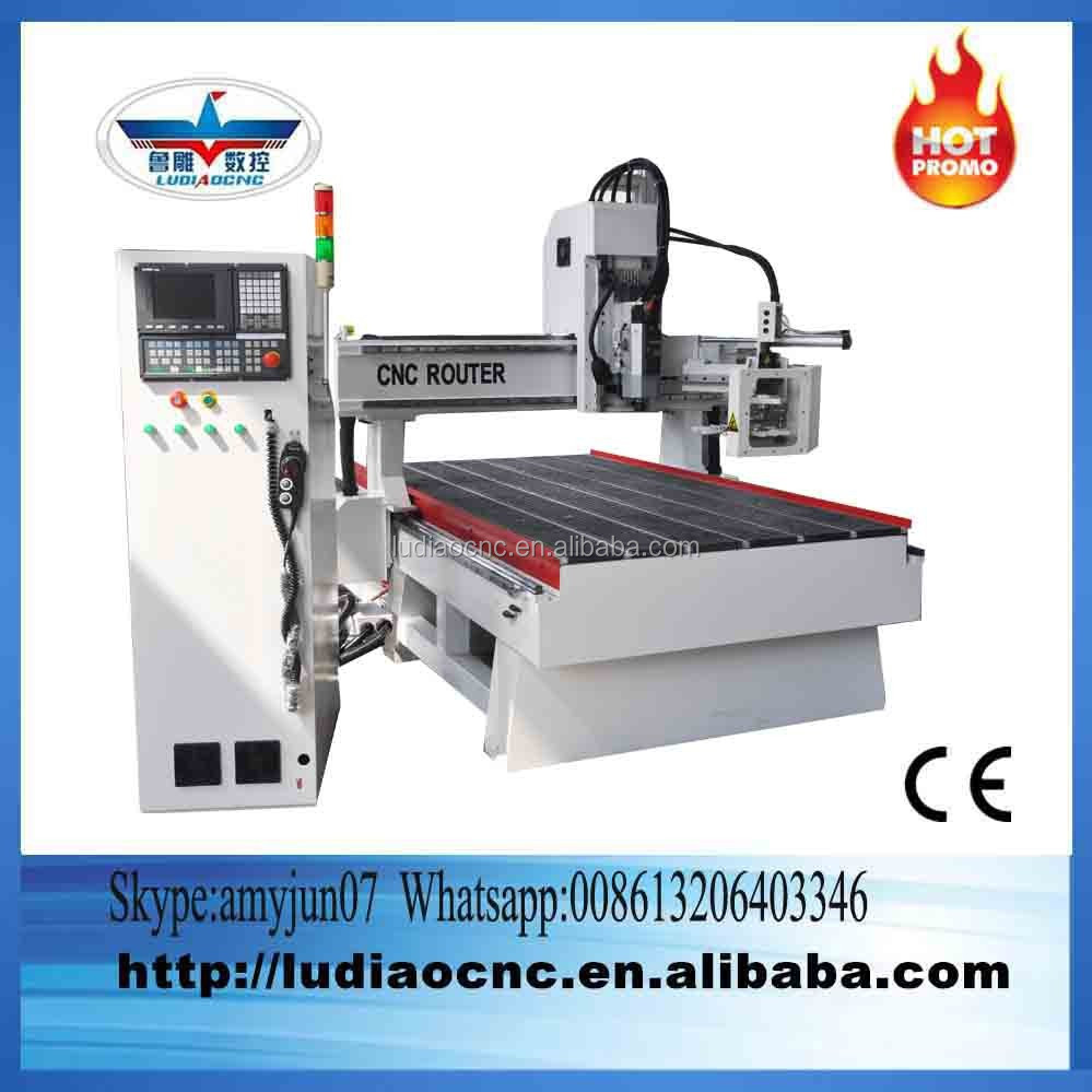 Italy 9kw spindle 1325 auto tool changing woodworking CNC process center with Servo motor driving system