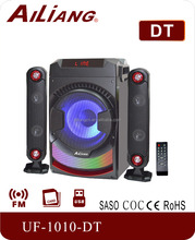 New design 2.1 multimedia speaker system UF-1010-DT with top mixer home theatre