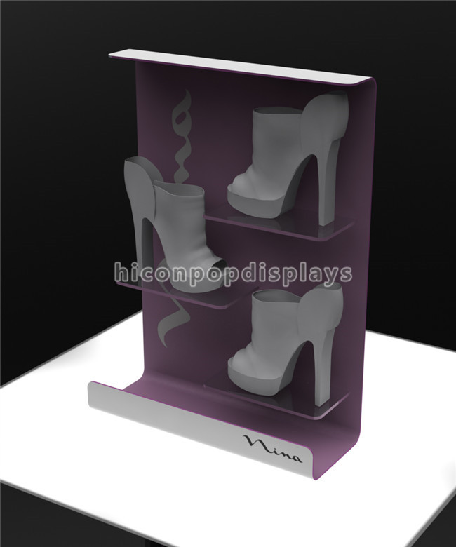 Creative Table Top Footwear Retail Store Stand Promoting Acrylic Lady High Heel Shoe Shop Display