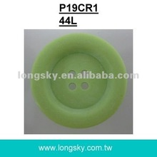 (#P19CR1-4HD) light green grass big polyester resin sewing coat button
