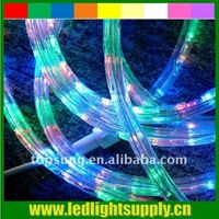 Pink Round Led Rope Light 2wires Led Light Rope
