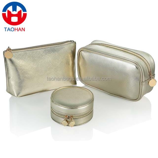 China factory custom high quality pu leather cosmetic bag