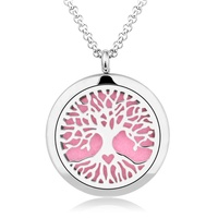 Family Tree Essential Oil Pendant 316 Stainless Steel Perfume Diffuser Locket Pendant