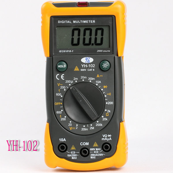 2000 Counts YH102 Digital Multimeter With Non-contact Voltage Detection Function