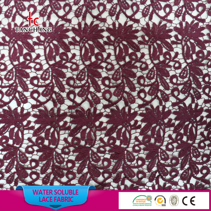 wholesale guangzhou african lace embroidery fabric guipure lace fabric SRMF17