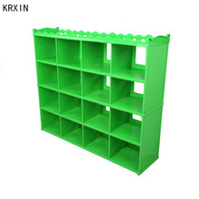 green kids plastic toy storage cabinet