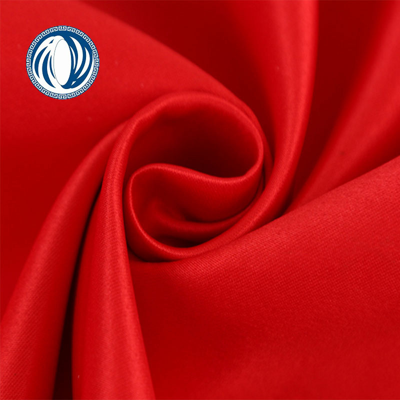 Environmental polyester printed fabric woven soft satin dress lining and garment textile material