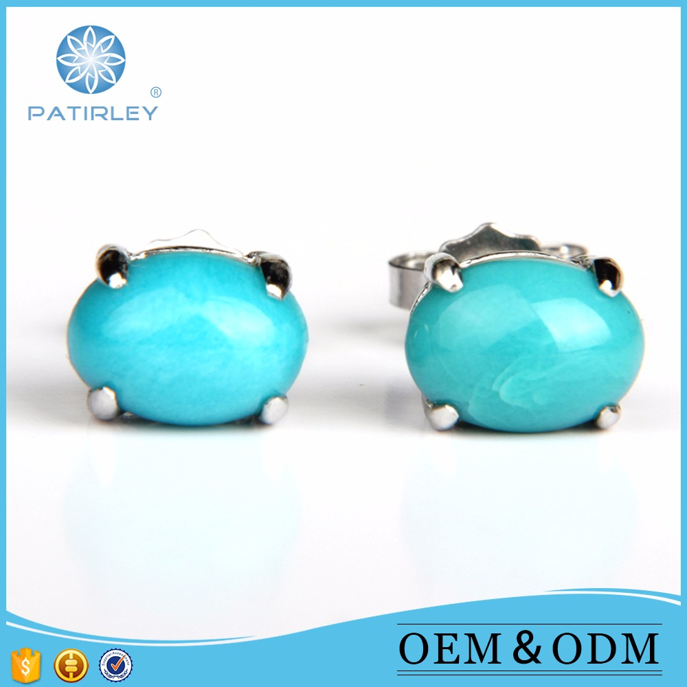 925 sterling silver earrings gemstone jewelry with competitive price