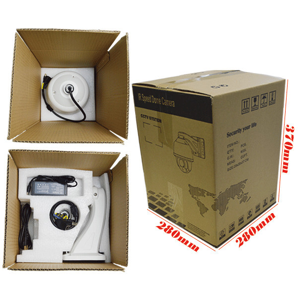 1.3 Megapixel AtuoTracking Outdoor PTZ IP Camera 20x Speed Dome Camera
