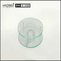 double heater glass candle holder