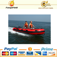 High quality CE approved aluminum floor inflatable boat size 3 m-9m inflatable fishing boat with cheap price
