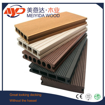 Waterproof exterior wpc decking board cheap wood plastic for Cheapest place for decking boards