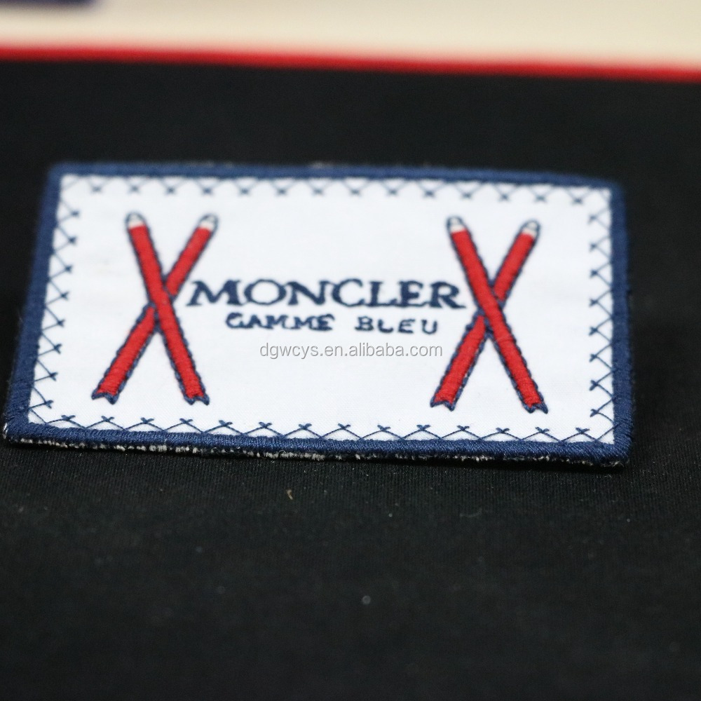 Garment Label High Quality Embroideried Brand logo custom Label/patch/main Woven Patch
