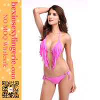 wholesale hot sale trendy colorful strap tassels miduo swimwear
